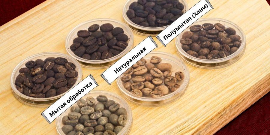 Способы обработки кофе