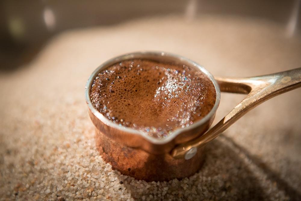 Закипание кофе в Турке