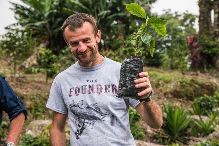 Саса Сестик высаживает кофейные деревья