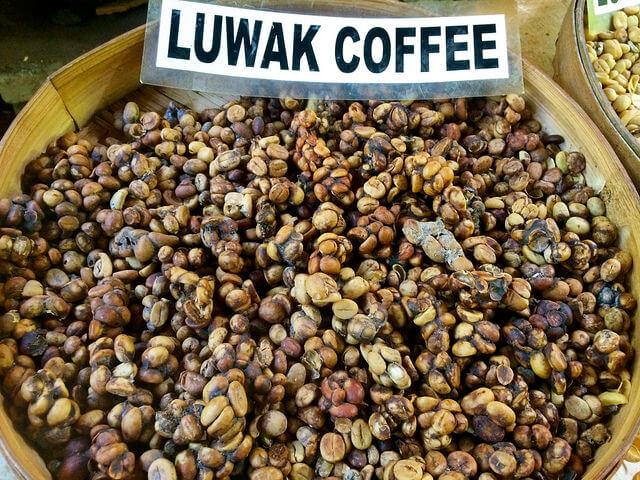 Необработанный кофе Копи Лювак