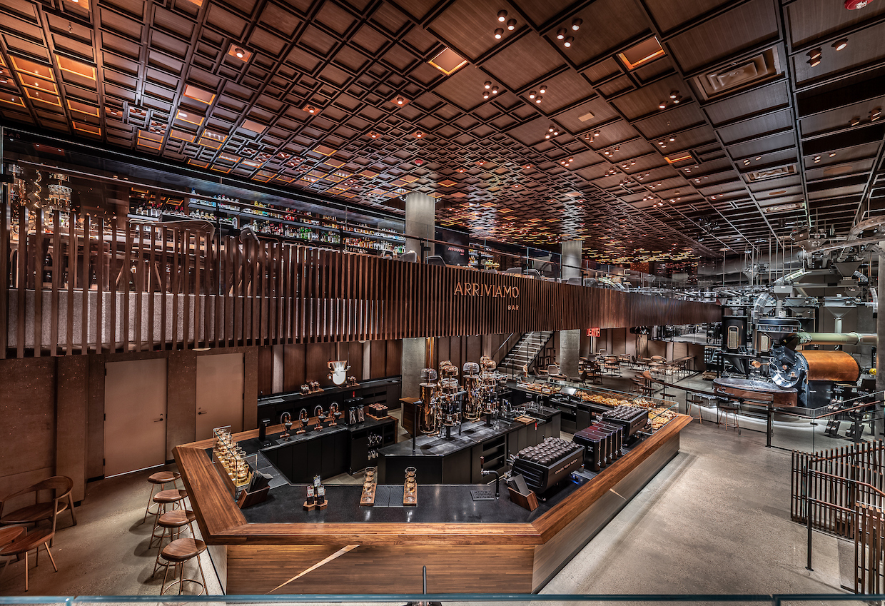 The Starbucks Reserve Roastery in New York City