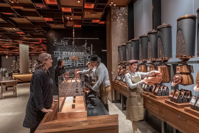 The Starbucks Reserve Roastery in New York City