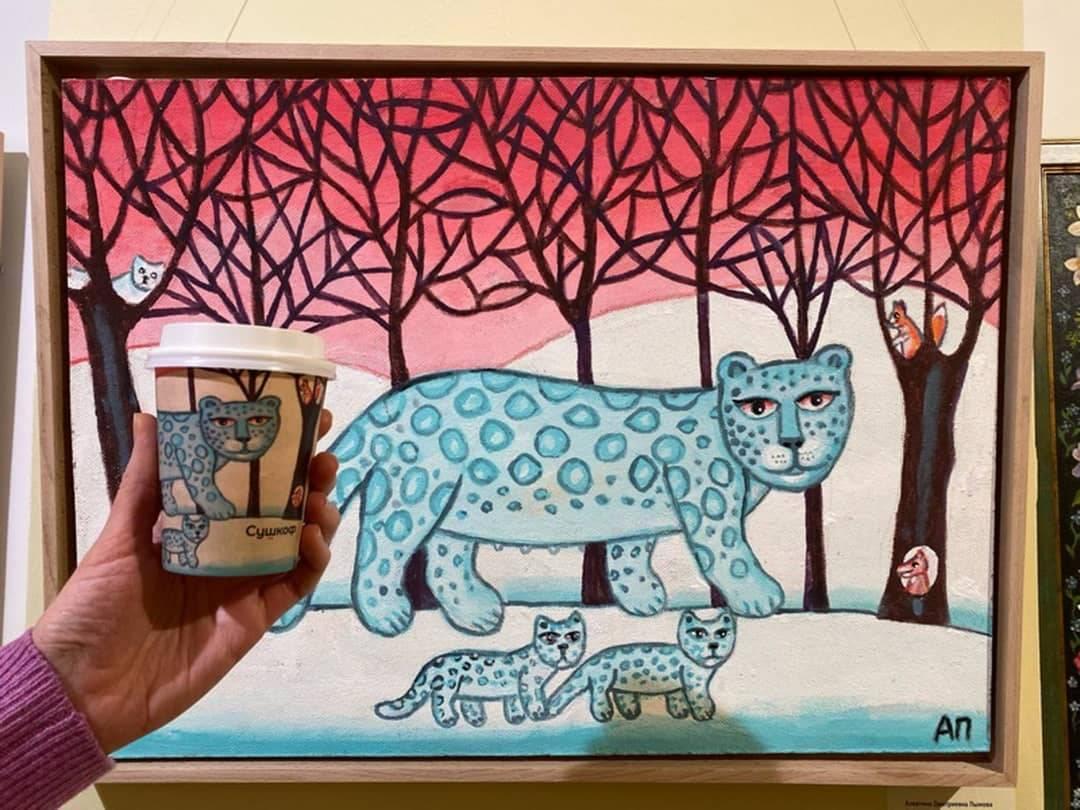 картины на кофейных стаканчиках