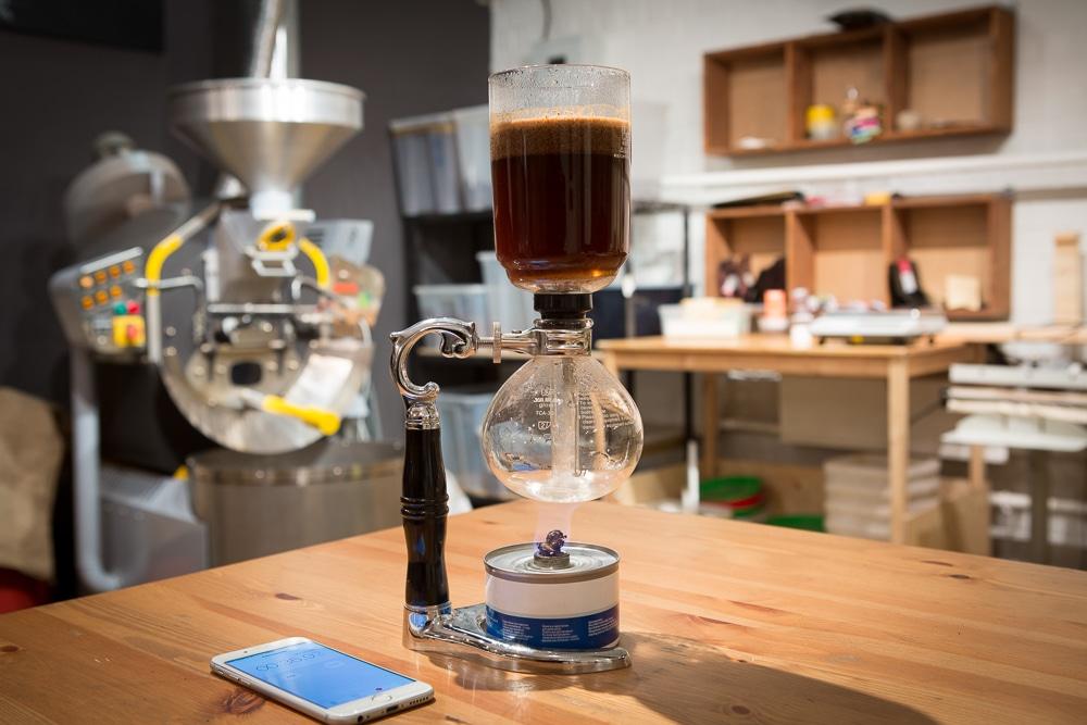 Приготовление кофе началось